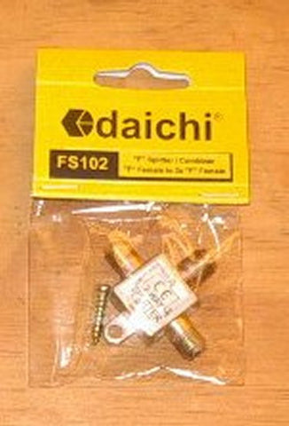 Dai-ichi 2Way F-Connector Type Coax TV Antenna Splitter - Part # FS102