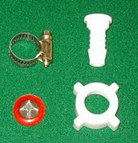 "3/4"" BSP Plastic Nut & Tail with Filter Washer & Clamp suits 1/2"" Hose - Part No. HC008K"