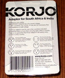 Korjo Australian/NZ to South Africa Travel Plug Adaptor - Part # KA-SI