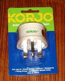 Korjo Australian to United Kingdom Travel Plug Adaptor - Part # KA-UK