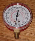 Replacement Red 70mm Pressure Gauge for R502, R22 - Part # R134G-500E