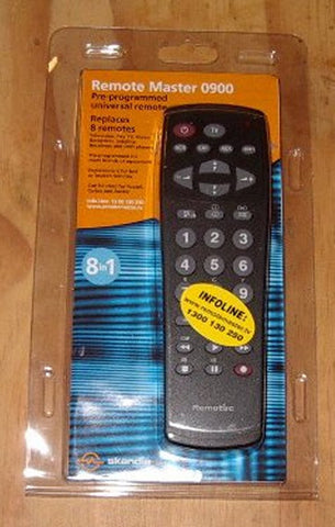 Budget Universal 8-in-1Remote Control - Part # RM0900