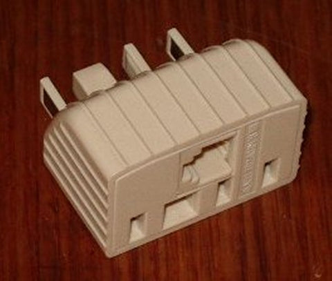 Mixed Telephone Socket Double Adaptor - Part # TD2408