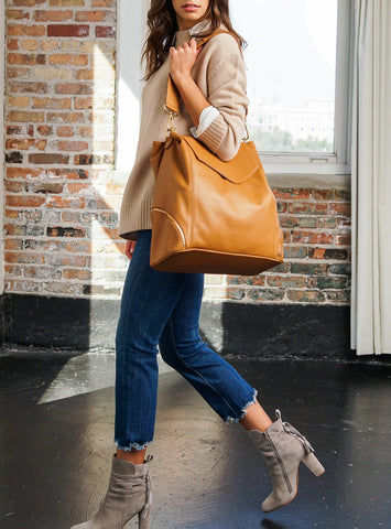caramel leather convertible backpack purse