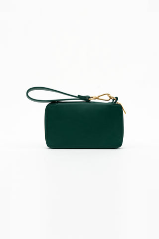 green champion leather wristlet wallet