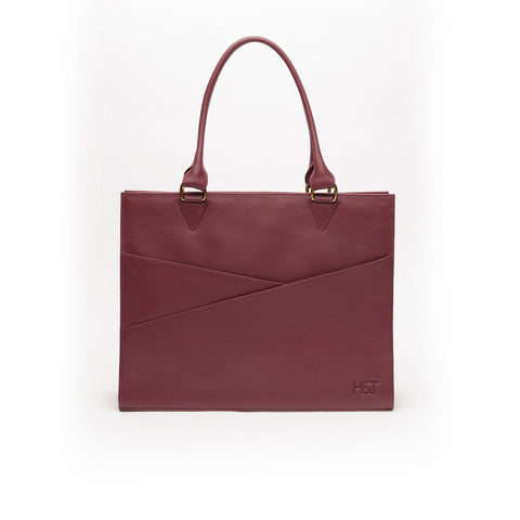 Burgundy Confidante Tote - Sample