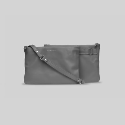 Grey Companion Max Crossbody Clutch - Sample