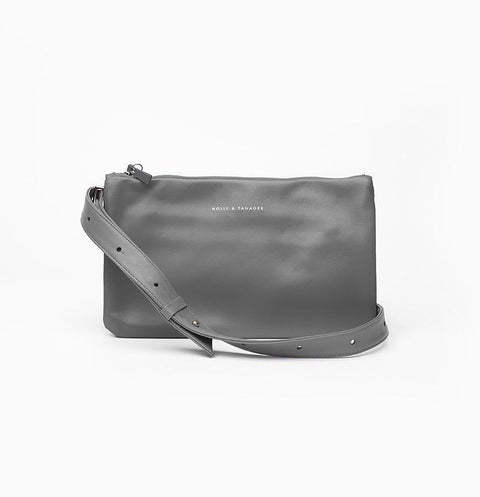Grey Companion Mini Crossbody Clutch - Sample