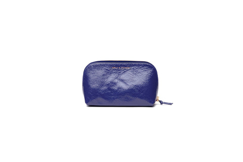 Purple Patent Tag Along Pouch - Sample