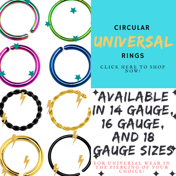 Dainty and Delightful Universal Circular Rings in a Variety of Colors and Sizes!