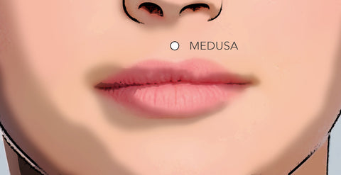 philtrum piercing medusa upper lip example