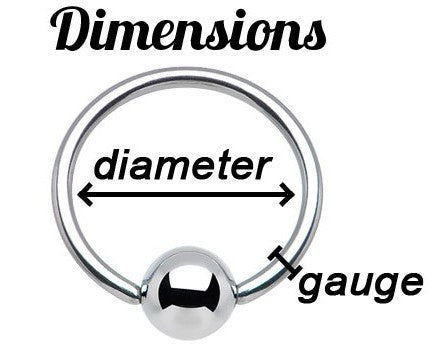 captive ring dimension gauge size