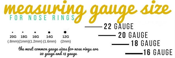 measuring nose ring gauge size