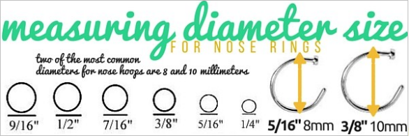 measuring nose ring diameter