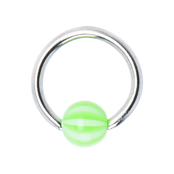 14 Gauge Acrylic SUBLIME Beach Ball BCR Captive Ring
