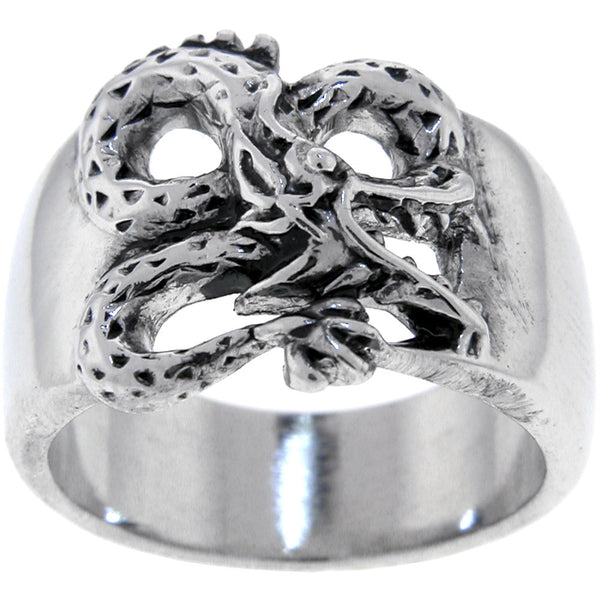 316L Stainless Steel Serpent Biker Ring Sizes 9-13