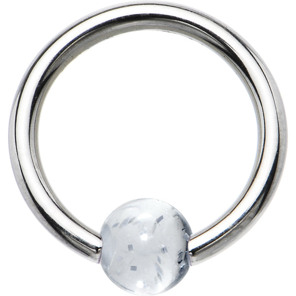 14 Gauge Clear Acrylic Ball BCR Captive Ring