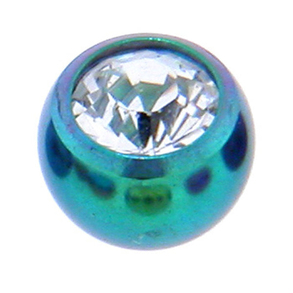 Green Titanium Gem Threaded 5mm Replacement Ball
