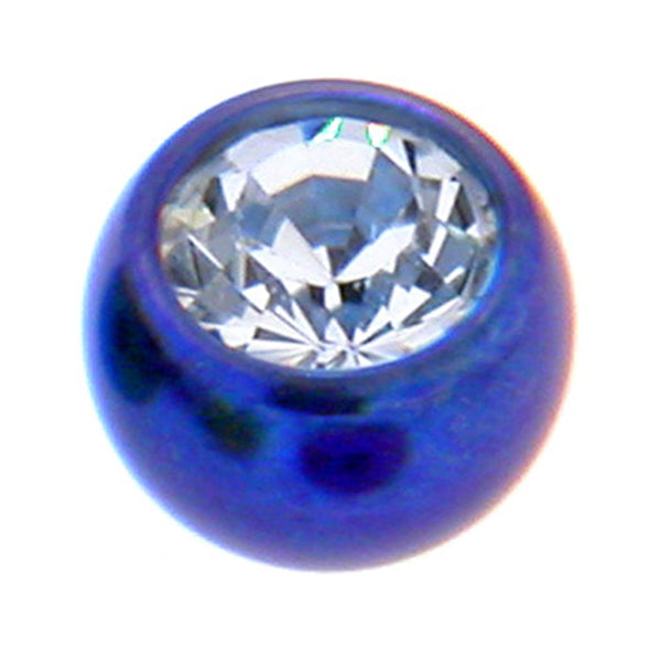 Dark Blue Titanium Gem Threaded 5mm Replacement Ball