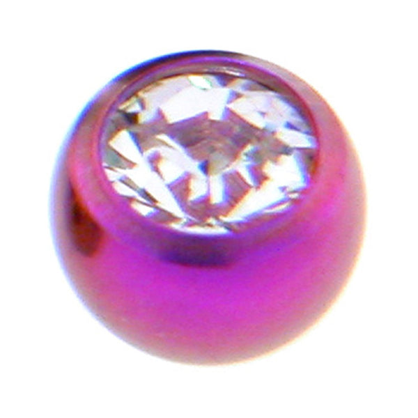 Purple Titanium Gem Threaded 5mm Replacement Ball