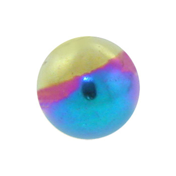 Rainbow Titanium Threaded 5mm Replacement Ball