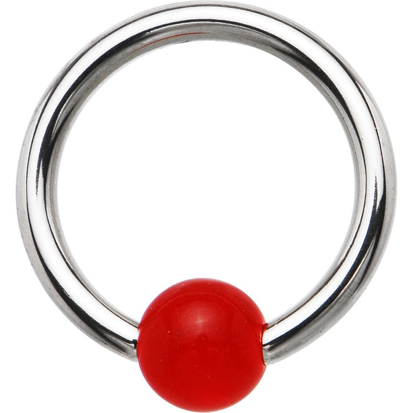 14 gauge Red Candy Apple BCR Captive Ring