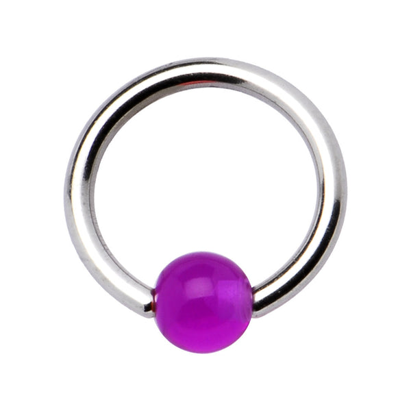 14 Gauge Stainless Steel Grape BCR Captive Ring