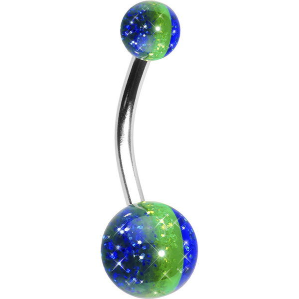 Caribbean Sea Acrylic Belly Button Ring