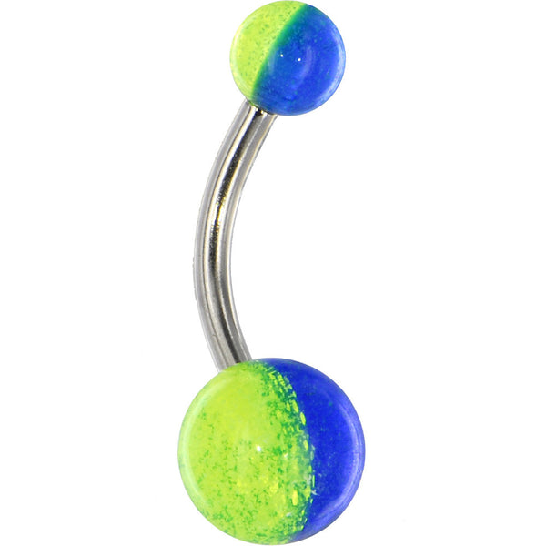Funky Glow-n-Dark Acrylic Belly Button Ring