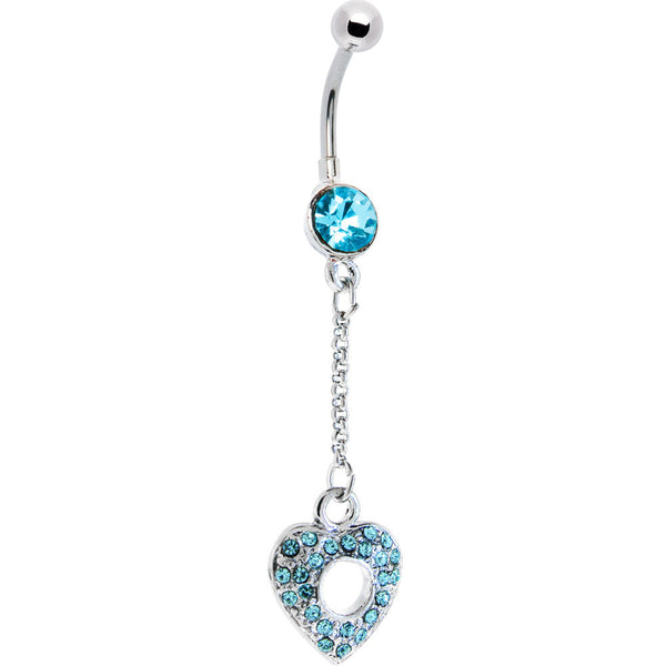 Southwestern Style 2 Dangling Turquoise Belly Button Ring