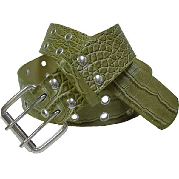 Green CARGO LEATHER Belt
