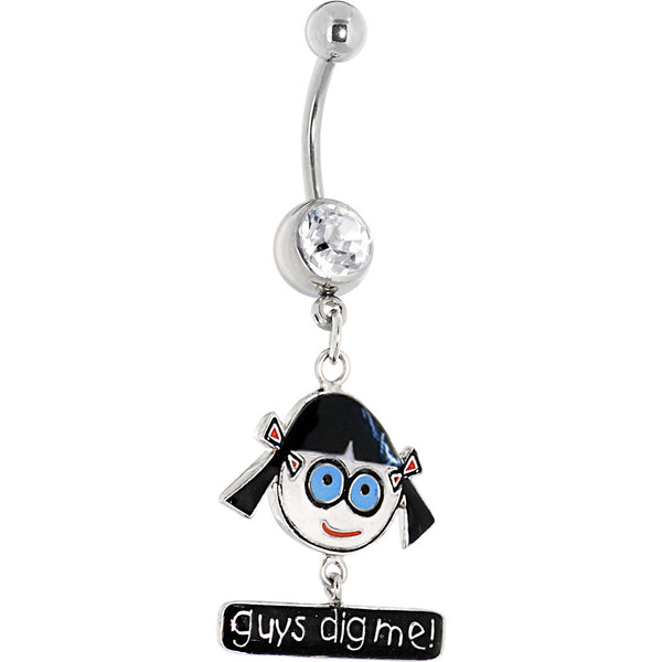 "DAVID and GOLIATH Crystalline Gem ""Guys Dig Me"" Dangle Belly Ring"