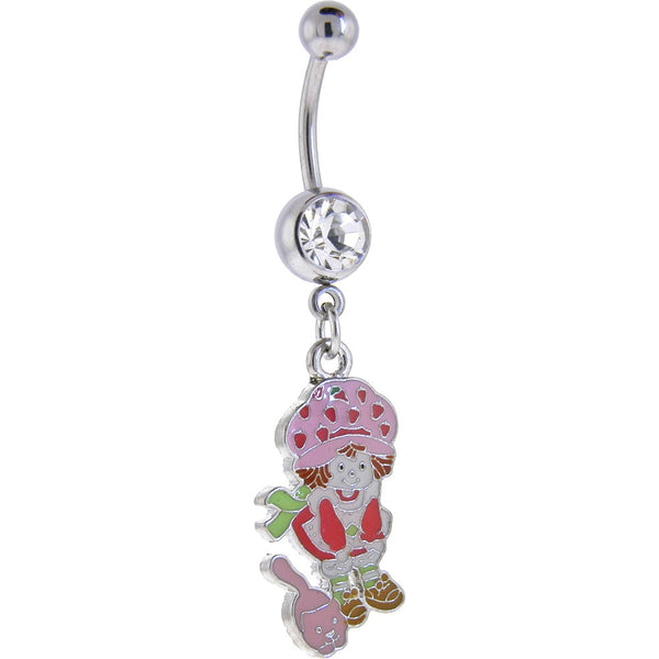 Strawberry Shortcake and CAT Crystalline GEM Dangle Belly Ring