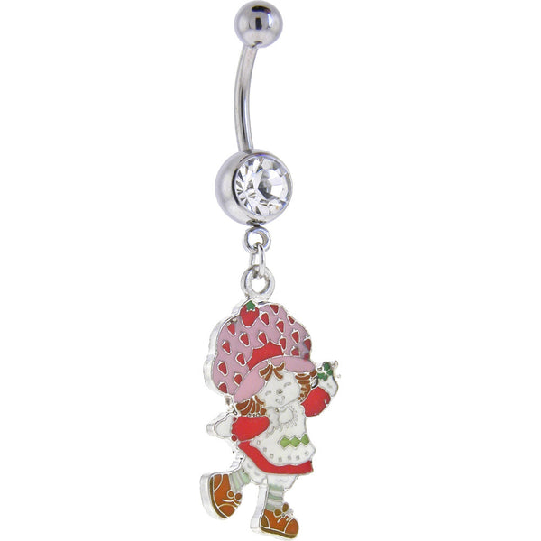 Strawberry Shortcake DANCING Crystalline GEM Dangle Belly Ring