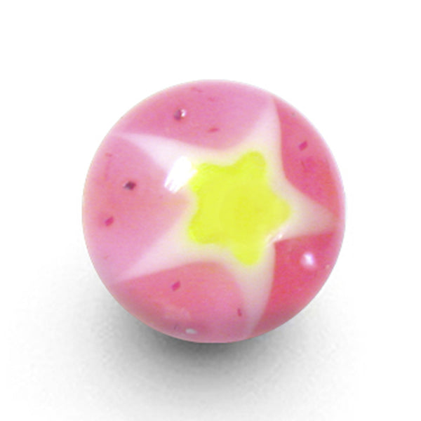 Psychedelic Pink Star UV Replacement Ball - 6mm