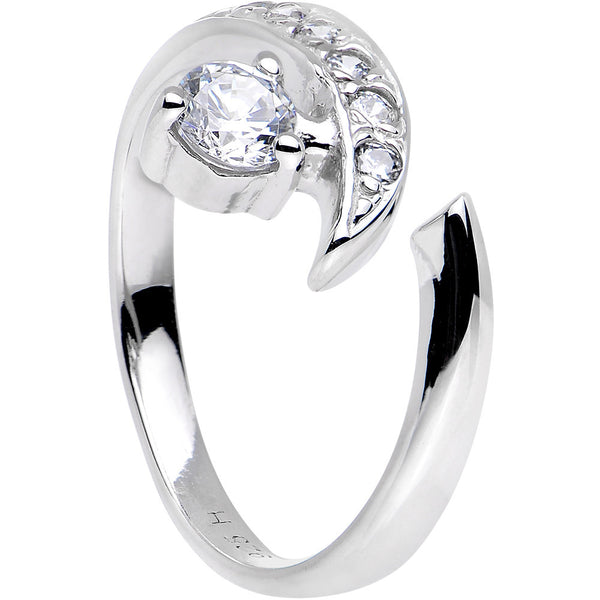 Sterling Silver 925 Cubic Zirconia Solitaire Toe Ring
