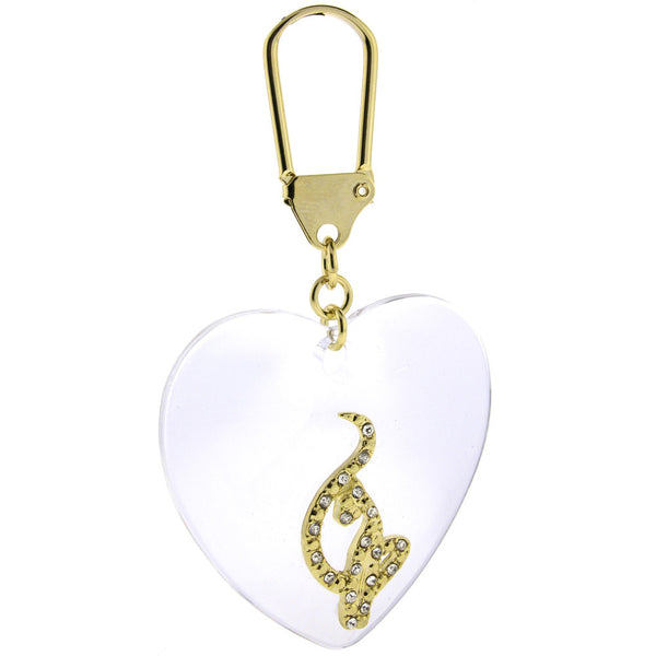 BABY PHAT Gold Toned CAT HEART Key Chain