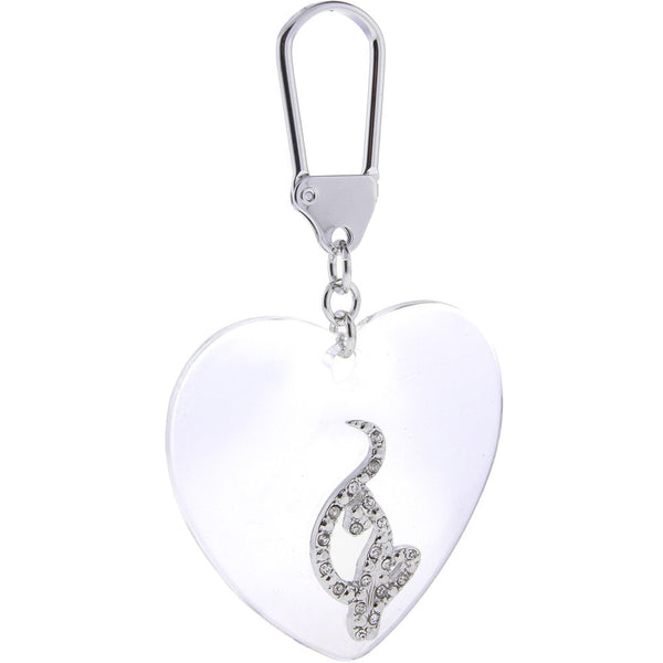 BABY PHAT Silver Toned CAT HEART Key Chain
