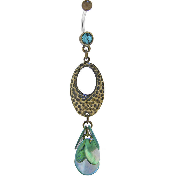 Aqua Green Leopard Paradise Belly Ring