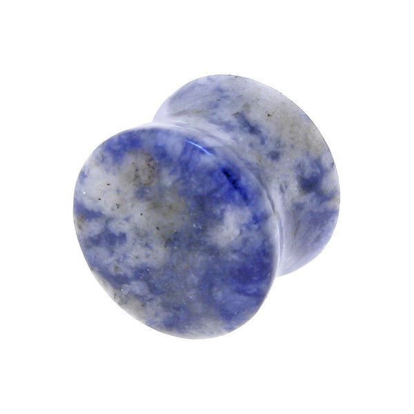 9/16 Gauge LAPIS Natural Stone Double Flare Plug