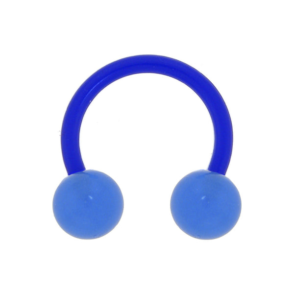 Bioplast Blue Glow In The Dark Circular Horseshoe