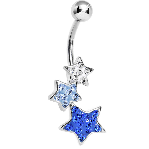 Blue Star Odyssey Cubic Zirconia Belly Ring