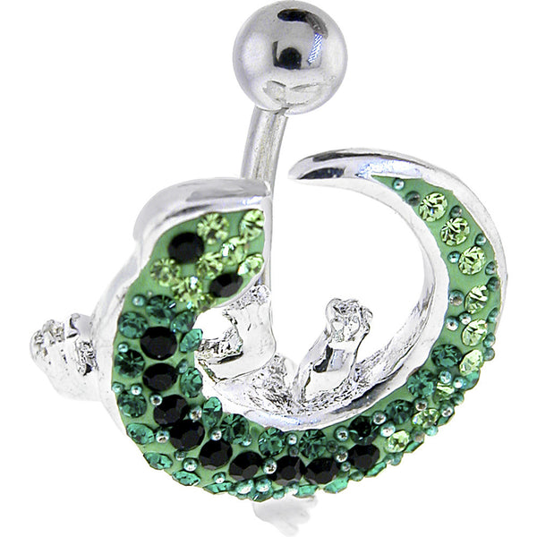 Austrian Crystal Izzy Lizzy Curvacious Belly Ring