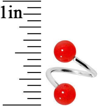 Red Bold Spiral Twister Belly Ring