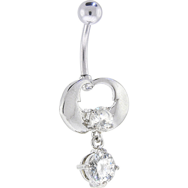 Crystalline Gem ENRAPTURE Dangle Belly Ring