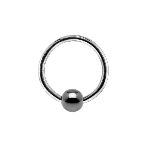 18 Gauge BCR Hematite Captive Ring 5/16 3mm