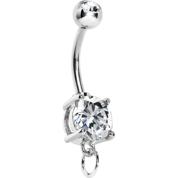 Crystal Cubic Zirconia Add On Charm Belly Ring