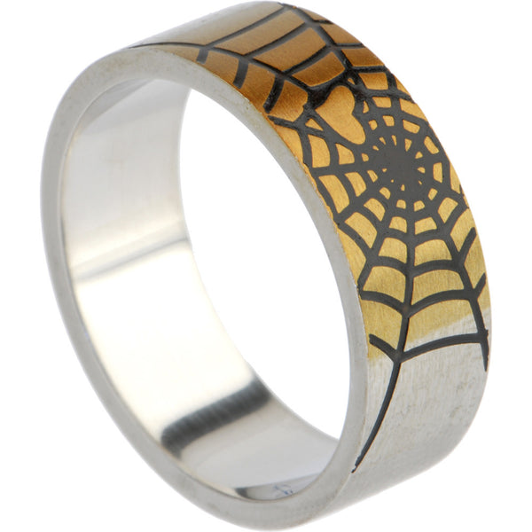 316L Stainless Steel SPIDER WEB Ring