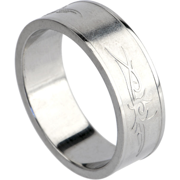316L Stainless Steel TRIBAL SYMBOL Ring