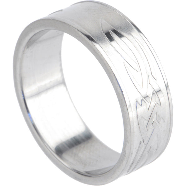316L Stainless Steel TRIBAL SYMBOL No. 2 Ring